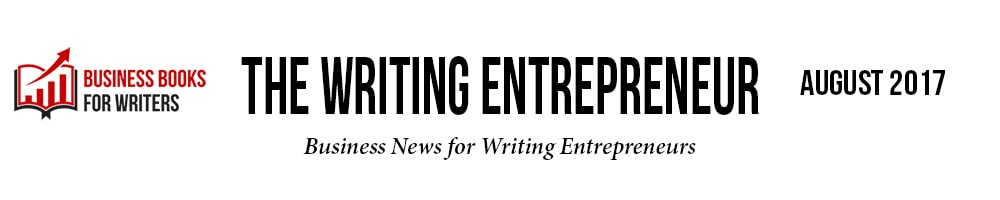 The Writing Entrepreneur masthead - August 2017