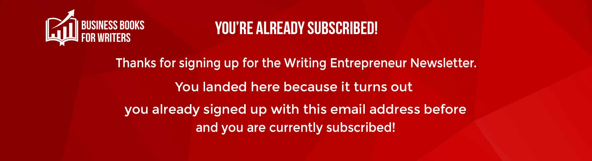 Newsletter already subscribed page