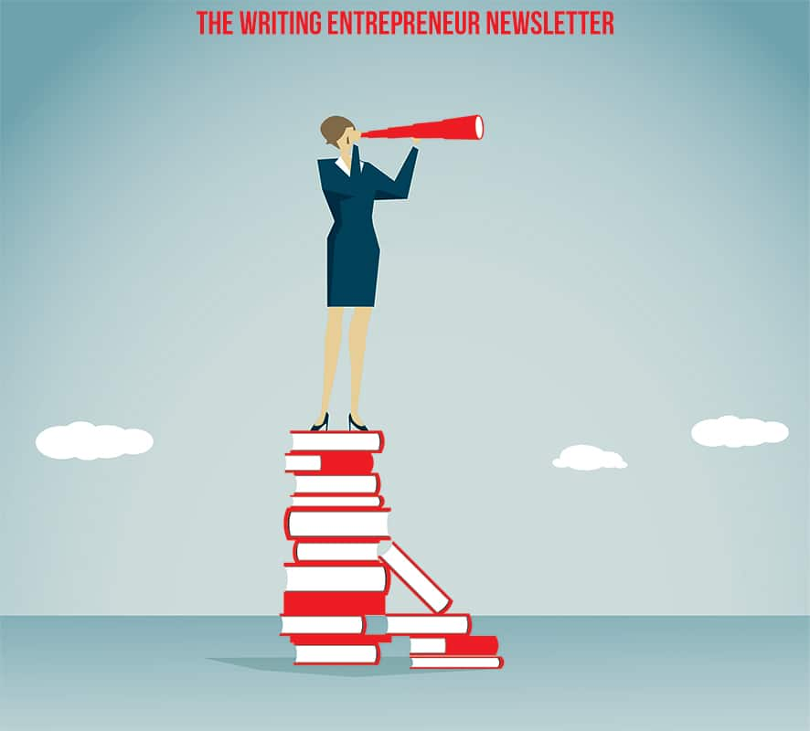 The Writing Entrepreneur signup page
