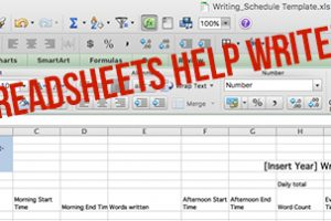 How Spreadsheets Help Writers