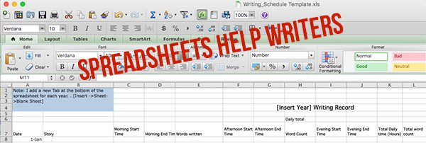 Spreadsheets Help Writers