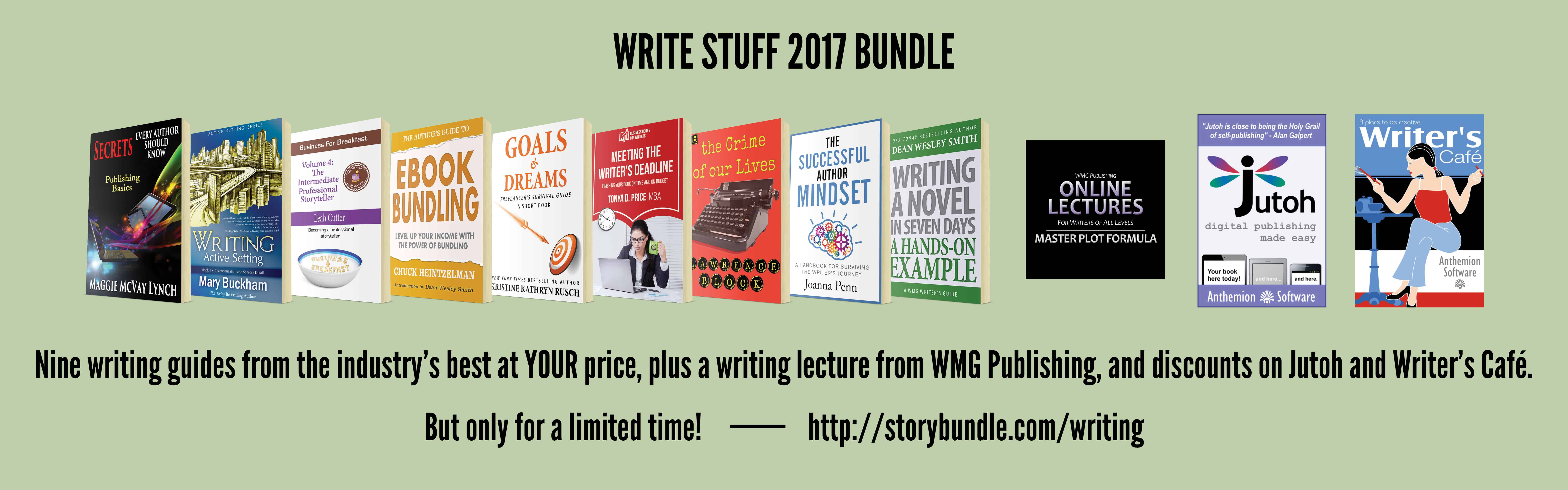 The Write Stuff Storybundle has great booksk for indie publishers.