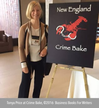 Photo of Tonya Price at Crime Bake, 2016.